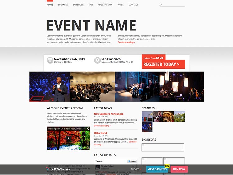 Event Manager WordPress Theme