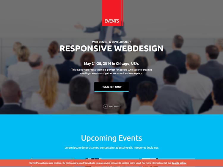 Events - Best Conference Themes for WordPress