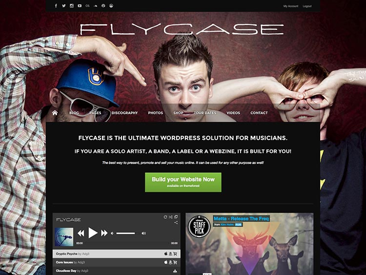Flycase WordPress Band Theme