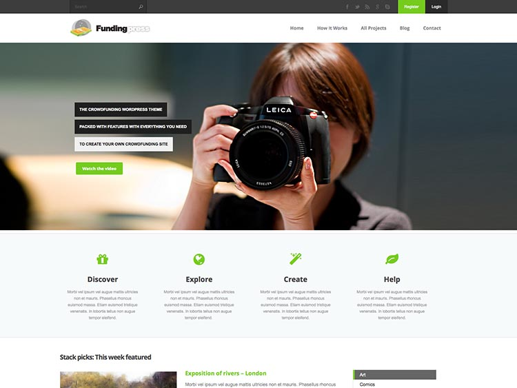 FundingPress Crowdfunding Theme