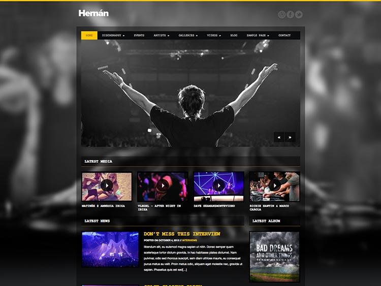 Hernan DJ WordPress Theme