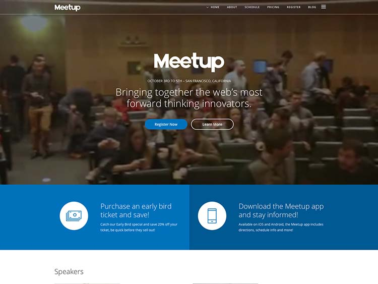 Meetup Event & Conference Theme for WordPress