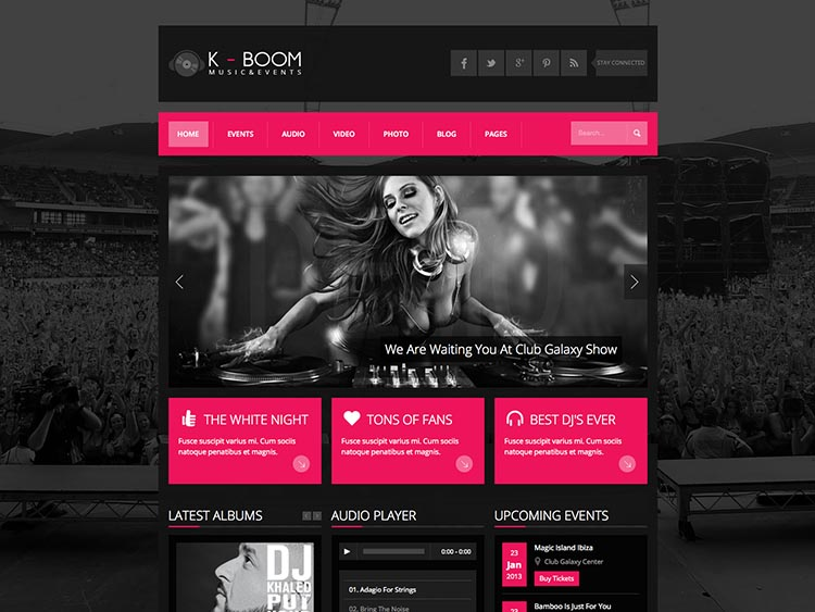 K-BOOM Club and DJ theme