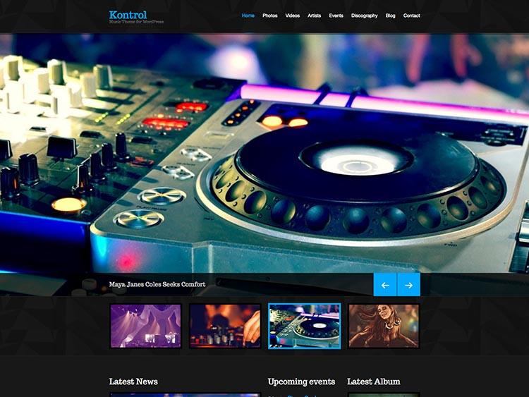 Kontrol WordPress DJ Theme
