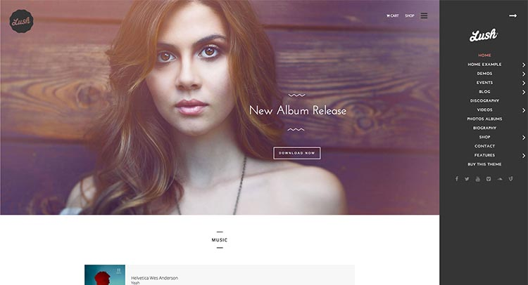 Our current favorite WordPress theme for bands and musicians