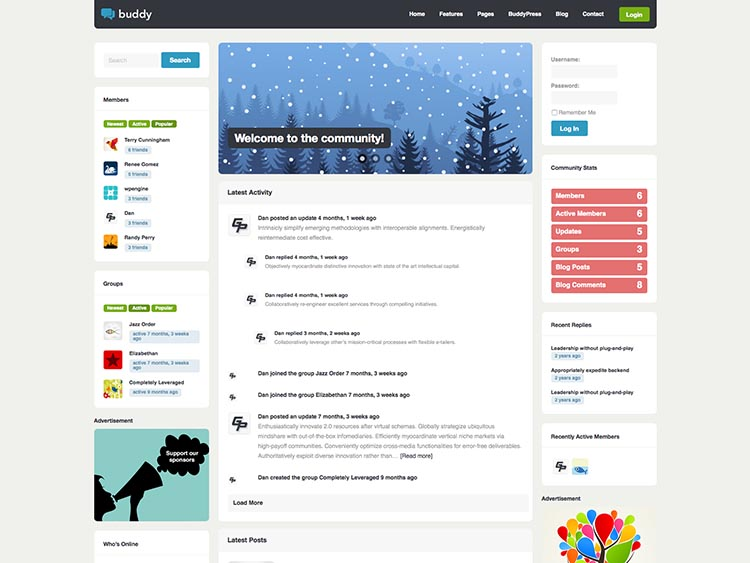 Buddy - Best WordPress BuddyPress Themes