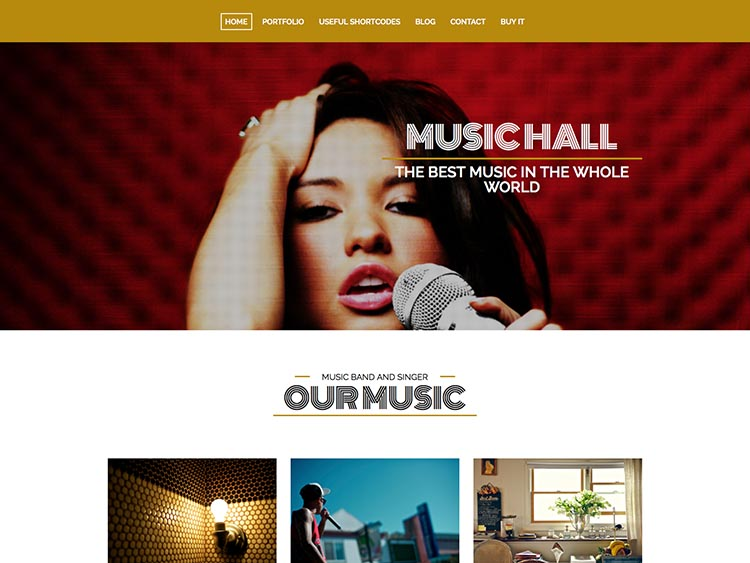 Music Hall WordPress Band Theme