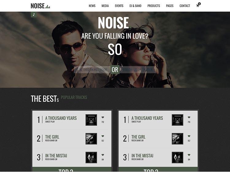 Noise WordPress DJ Theme