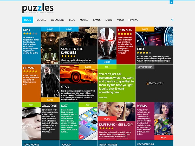 Puzzles WordPress Theme
