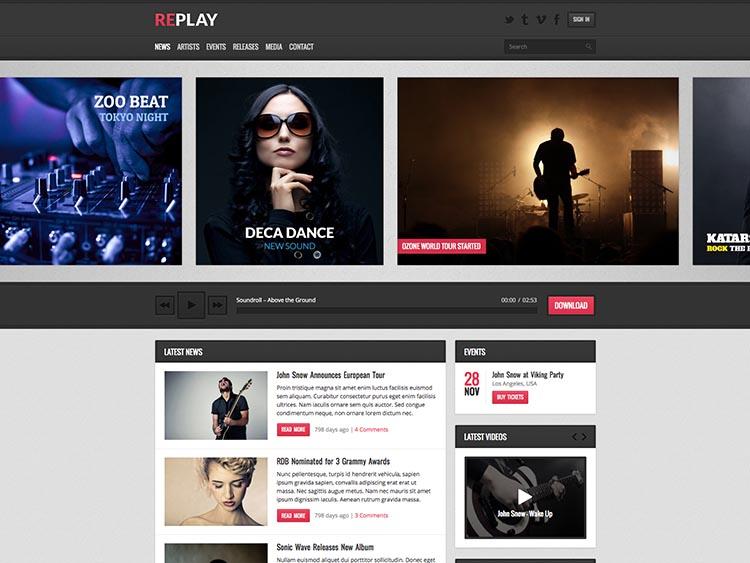 Replay Music Theme for WordPress
