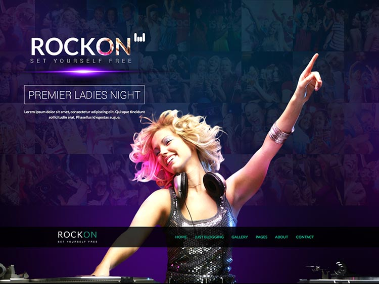 RockOn WordPress Bar Theme