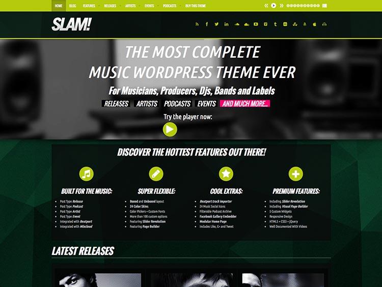 Slam Music Theme for WordPress