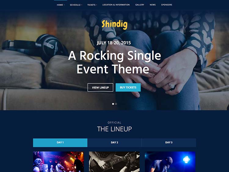 Shindig WordPress Event Theme
