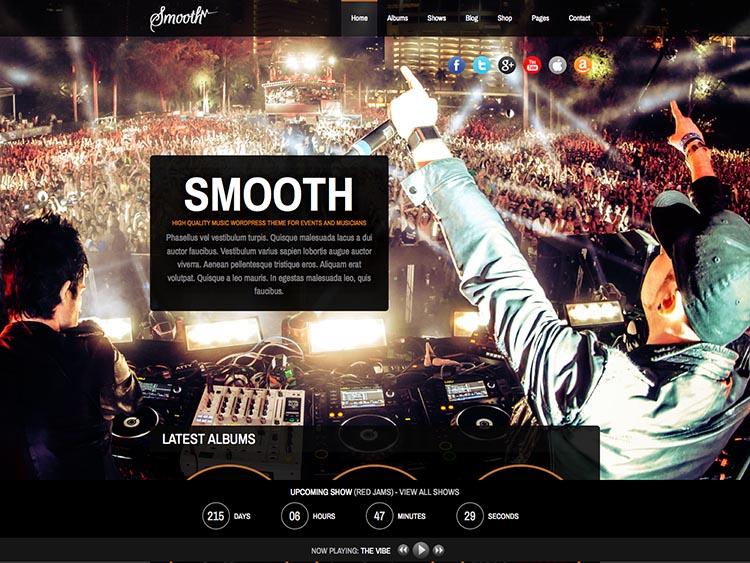 Smooth Music Theme for WordPress