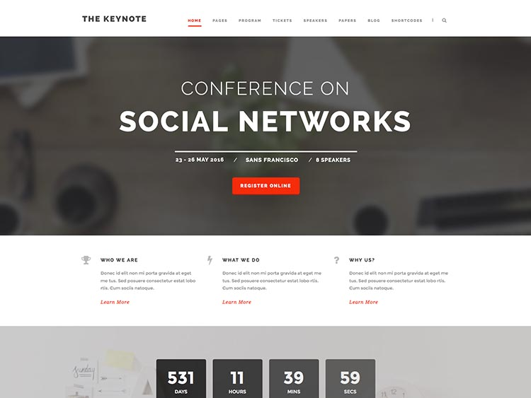 Best Conference & Event Theme for WordPress