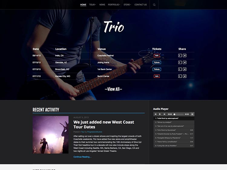 Trio Band and Musician Theme