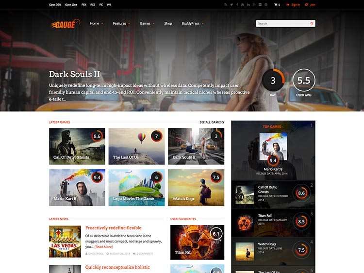 21+ Best Responsive WordPress Gaming Themes for 2018 - Siteturner