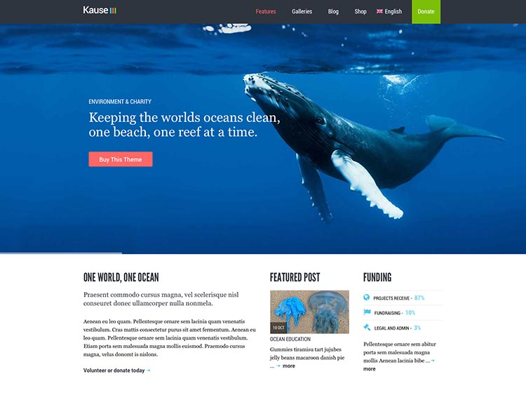 Kause - Best WordPress Environmental & Activism Themes
