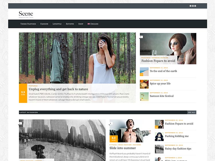 Scene Review Theme for WordPress