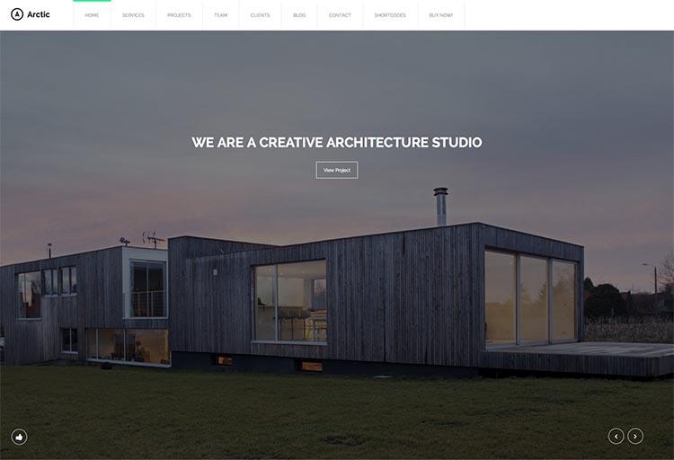 Arctic WordPress Theme for Architects