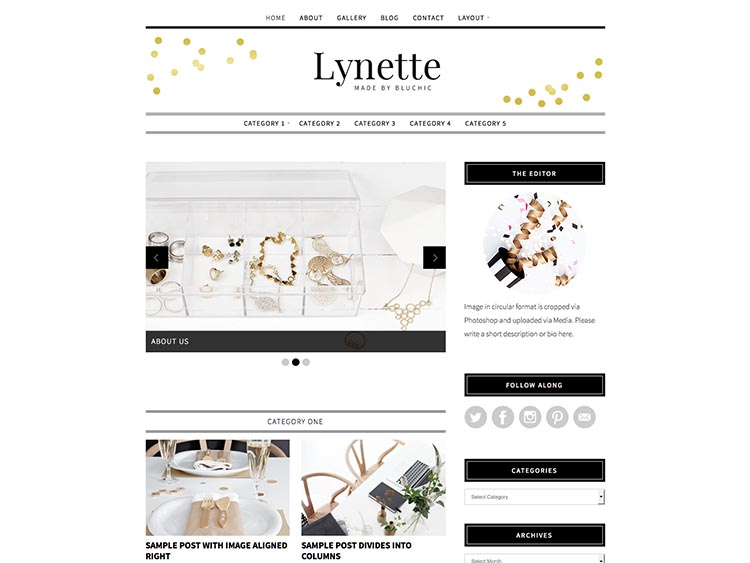 Lynette Bluchic WordPress Theme