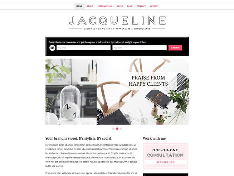 Jaqueline Feminine Theme for WordPress