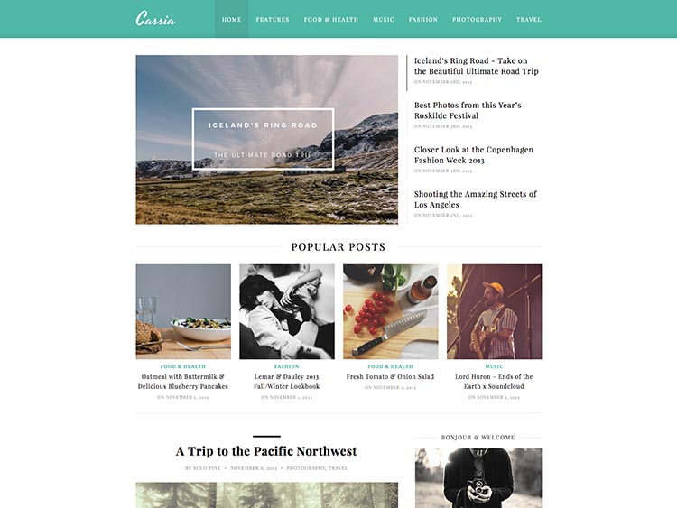 Cassia WordPress Theme