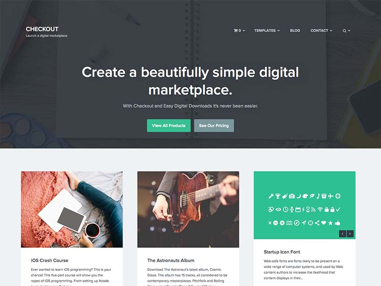 The best easy digital downloads theme for WordPress for selling digital products
