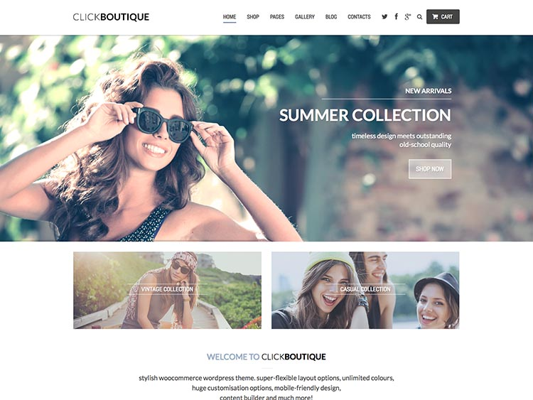 Clickboutique Ecommerce Theme for WordPress