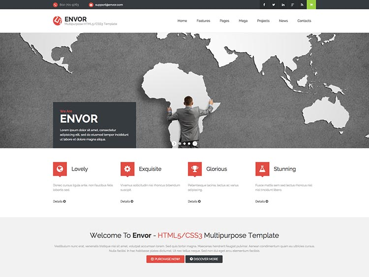 Envor WordPress Corporate Theme