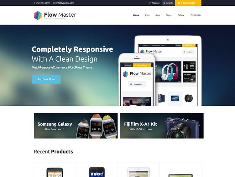 Flowmaster WooCommerce Elecrontics Theme