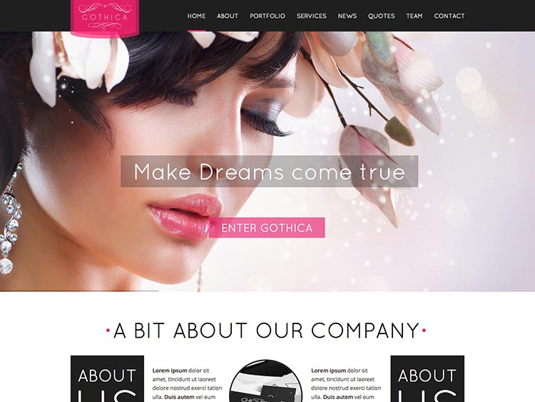 Gothica WordPress Theme for Women
