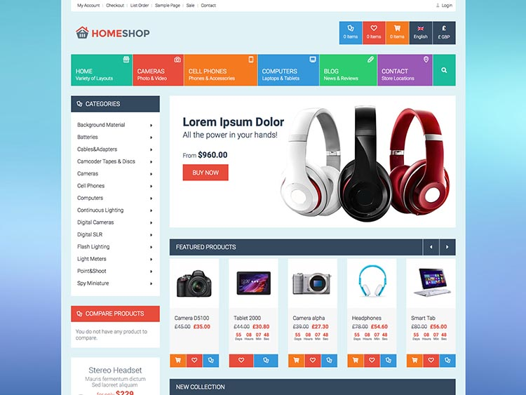 HomeShop WooCommerce Theme for Computers and Electronics
