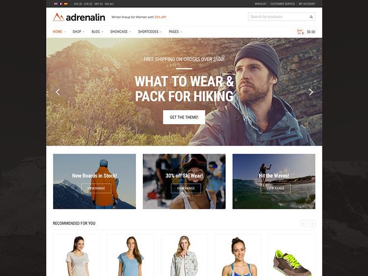 Adrenaline WooCommerce WordPress Theme