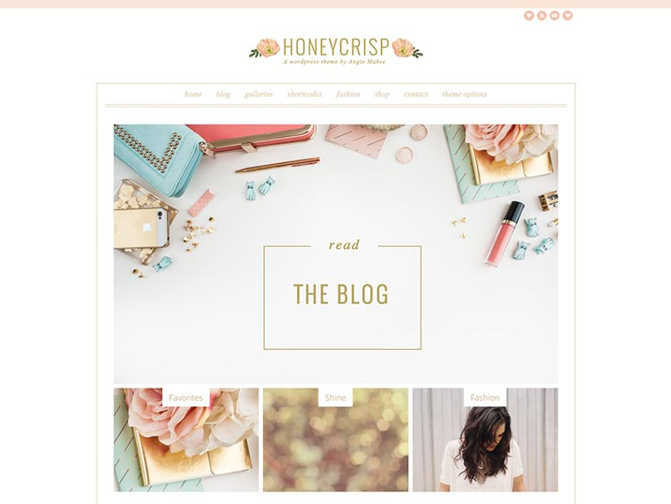 Honeycrisp Feminine WordPress Theme