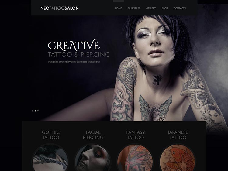 NeoTattooSalon Theme