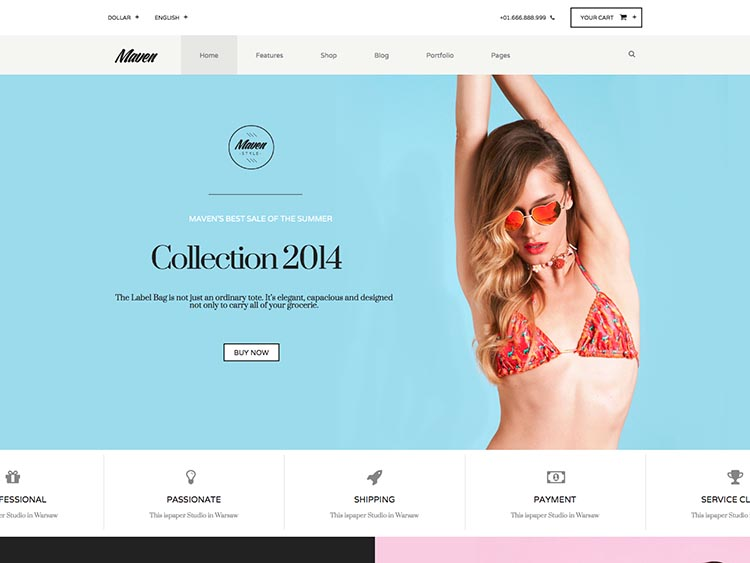 Maven WordPress E-commerce Theme