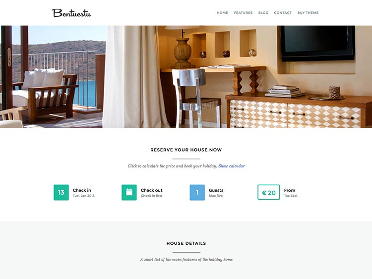Bentuestu WordPress Theme