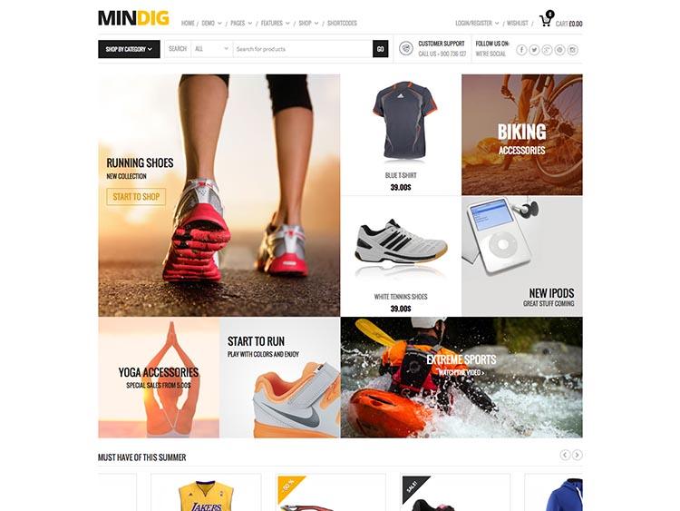 Mindig WordPress E-commerce Theme