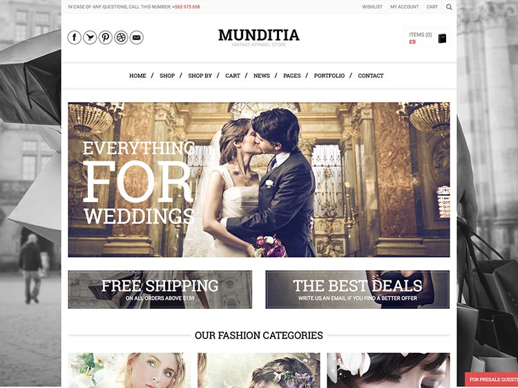 Munditia WooCommerce WordPress Theme