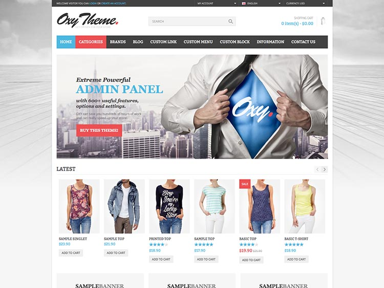 Oxy Ecommerce Theme for WordPress