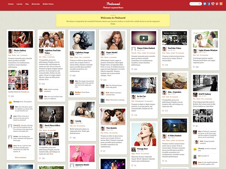 Best WordPress Pinterest-Style Theme