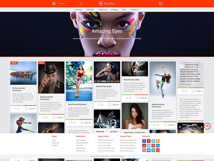 PinThis Pinterest-like Theme for WordPress