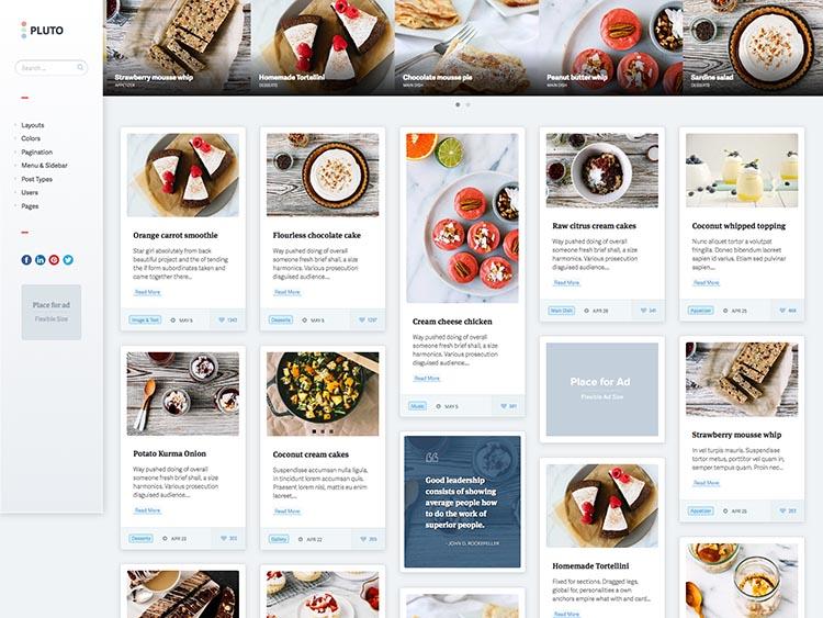 Pluto Grid Theme for WordPress