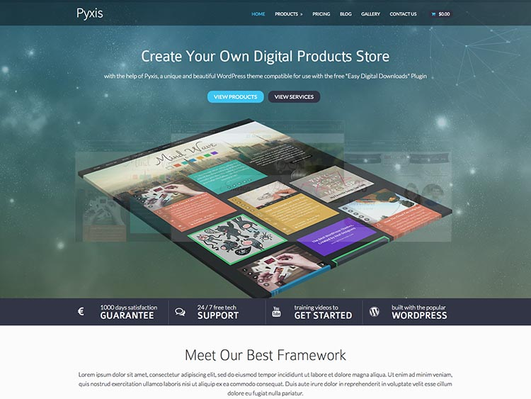 Pyxis EDD WordPress Theme