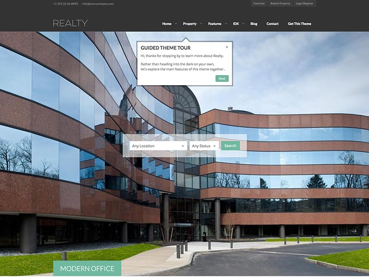 Realty WordPress Property Management Tema
