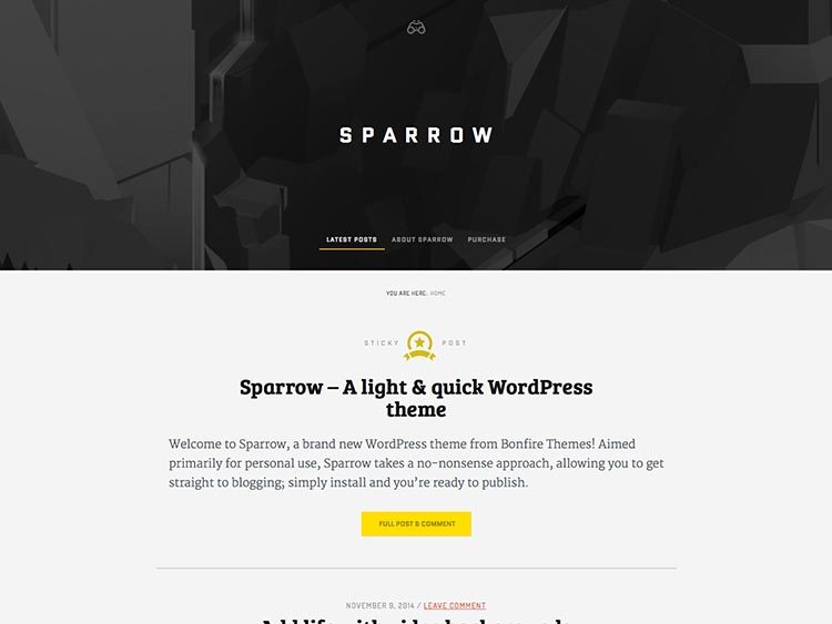 Sparrow - Best WordPress themes for Writers