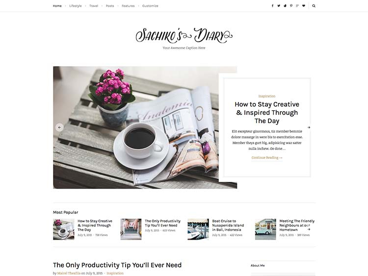 Sachiko WordPress Theme