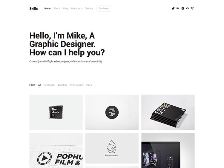 Skill WordPress Theme