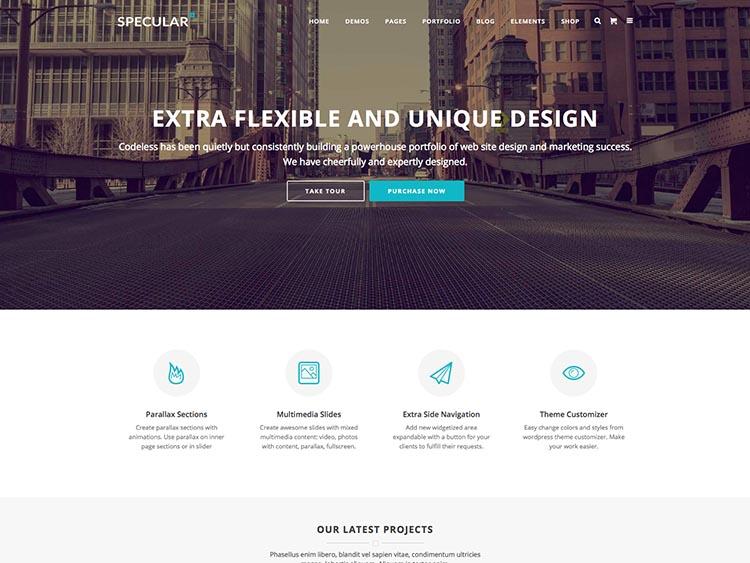 Specular Mobile WordPress Theme